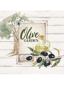 Салфетка для декупажа Оливковый сад, 33х33 см, Голландия