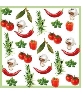 """Салфетка для декупажа """"Итальянские овощи"""", 33х33 см, Голландия"""