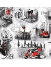 """Салфетка для декупажа """"Итальянские улочки"""", 33х33 см, Голландия"""