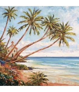 """Салфетка для декупажа """"Пляж с пальмами"""", 33х33 см, Голландия"""