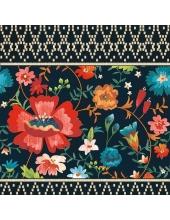 """Салфетка для декупажа """"Красный цветок на черном"""", 33х33 см, Голландия"""