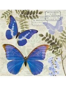 """Салфетка для декупажа """"Синие бабочки"""", 33х33 см, Голландия"""