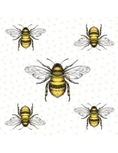 "Салфетка для декупажа ""Пчелы"", 33х33 см, Голландия"