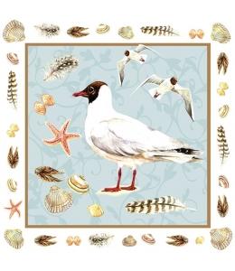 "Салфетка для декупажа ""Главная чайка на пляже"", 33х33 см, Голландия"