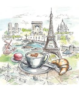 "Салфетка для декупажа ""Французский завтрак"", 33х33 см, Голландия"