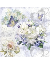 "Салфетка для декупажа ""Цветок любви"", 33х33 см, Голландия"