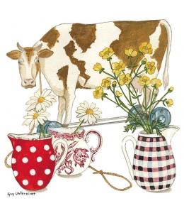 "Салфетка для декупажа ""Корова"", 33х33 см, Голландия"