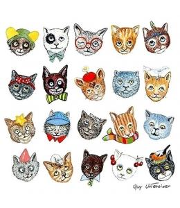 """Салфетка для декупажа """"Счастливые коты"""", 33х33 см, Голландия"""