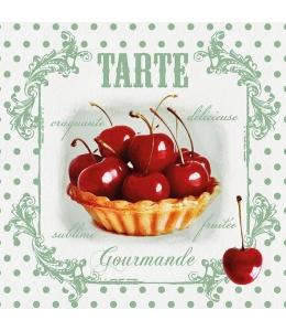 """Салфетка для декупажа """"Красные вишни"""", 33х33 см, Голландия"""