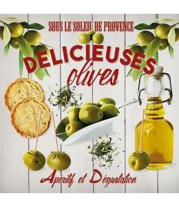 """Салфетка для декупажа """"Вкусные оливки"""", 33х33 см, Голландия"""