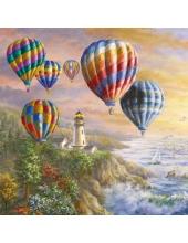 """Салфетка для декупажа """"Воздушные шары"""", 33х33 см, Голландия"""