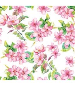 """Салфетка для декупажа """"Вишневые цветущие розы"""", 33х33 см, Голландия"""
