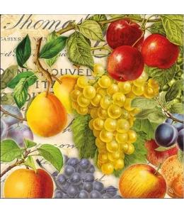 """Салфетка для декупажа """"Осенние фрукты"""", 33х33 см, Голландия"""