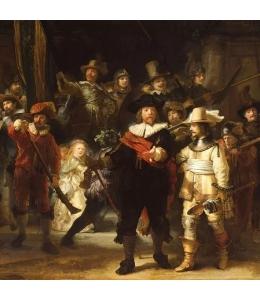 """Салфетка для декупажа """"Ночной дозор, Рембрант"""", 33х33 см, Голландия"""