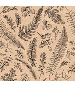 """Салфетка для декупажа """"Листья и травы"""", 33х33 см, Голландия"""