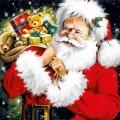 "Салфетка для декупажа ""Санта с подарками"", 33х33 см, Ambiente (Голландия)"