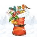 "Салфетка для декупажа ""Подарки в сапоге"", 33х33 см, Ambiente (Голландия)"