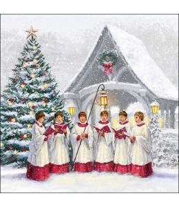 """Салфетка для декупажа """"Рождественский хор"""", 33х33 см, Ambiente (Голландия)"""
