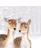 """Салфетка для декупажа """"Олени в заснеженном лесу"""", 33х33 см, Ambiente (Голландия)"""