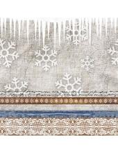 """Салфетка для декупажа """"Рождественская ткань"""", 33х33 см, Ambiente (Голландия)"""