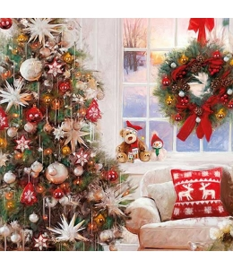 """Салфетка для декупажа """"Дом в Рождество"""", 33х33 см, Ambiente (Голландия)"""