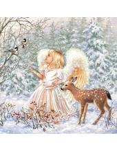 "Салфетка для декупажа ""Зимний ангел"", 33х33 см, Ambiente (Голландия)"