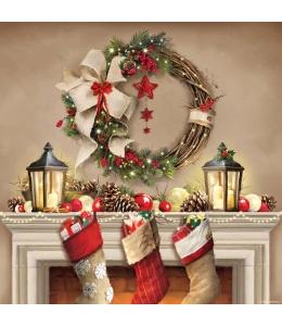 """Салфетка для декупажа """"Рождественские подарки"""", 33х33 см, Ambiente (Голландия)"""