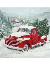 """Салфетка для декупажа """"Рождественский грузовик"""", 33х33 см, Ambiente (Голландия)"""