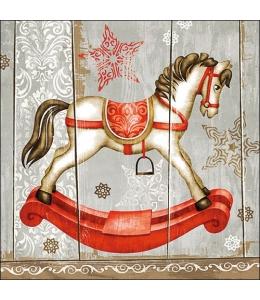 "Салфетка для декупажа ""Лошадка-качалка"", 33х33 см, Ambiente (Голландия)"