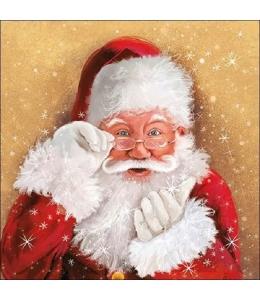 "Салфетка для декупажа ""Санта наблюдатель"", 33х33 см, Ambiente (Голландия)"