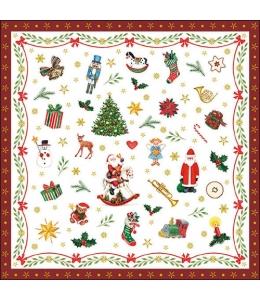 """Салфетка для декупажа """"Рождественские украшения"""", 33х33 см, Ambiente (Голландия)"""
