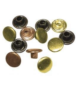 Кнопки для скрапбукинга круглые, цвета благородных металлов, 7 мм , 50 шт., Rayher