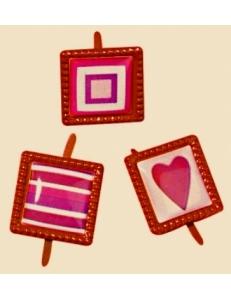 """Брадсы для скрапбукинга """"Любовь"""", 1,5 см, 12 шт., цвет красный, Rayher"""