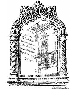 Штамп силиконовый на полимерном блоке LB1162 Frame with balcony, 9x6,5 см, La Blanche