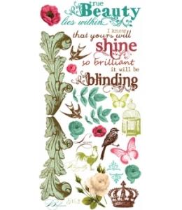 Натирка для скрапбукинга Madeline, винтаж, лист 10x20 см, Prima Marketing