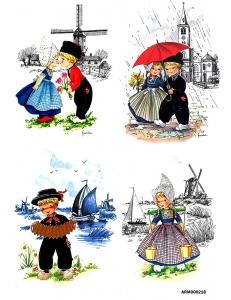 Рисовая бумага для декупажа Голландия, дети, А4 АртДекупаж Россия