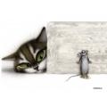Рисовая бумага для декупажа Кошки мышки, А4 АртДекупаж Россия