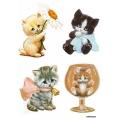 Рисовая бумага для декупажа Милые котята, А4 АртДекупаж Россия