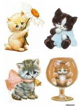 Рисовая бумага для декупажа Милые котята, А4 Россия