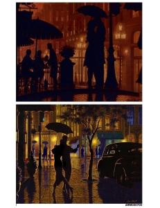 Рисовая бумага для декупажа Двое под зонтиком, А4 АртДекупаж Россия