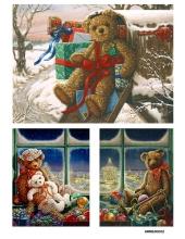 Рисовая бумага для декупажа Рождественский мишка, А4 Россия