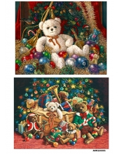 Рисовая бумага для декупажа Новогодние игрушки, А4 Россия