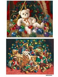 Рисовая бумага для декупажа Новогодние игрушки, А4 АртДекупаж