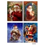 Рисовая бумага для декупажа Санта Клаус, А4 АртДекупаж Россия