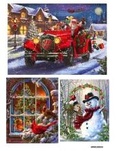 Рисовая бумага для декупажа Рождество, А4 Россия