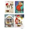 Рисовая бумага для декупажа Дети в Новый год, А4 АртДекупаж Россия
