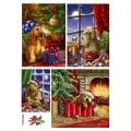 Рисовая бумага для декупажа Рождественские собаки, А4 АртДекупаж Россия