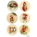 Рисовая бумага для декупажа Рождественские дети 1, А4 АртДекупаж Россия