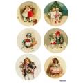 Рисовая бумага для декупажа Рождественские дети 3, А4 АртДекупаж Россия