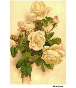 Рисовая бумага для декупажа Желтые розы формат А5, Россия